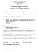 Occupational Medicine Exam Request Form And Authorization For Release Of Medical Information