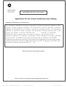Faa Form 3330-43 - Rating Of Air Traffic Experience Form printable ...