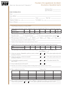 Truckers Occupational Accident Insurance Questionnaire Form