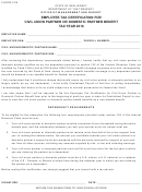 Form Fh-0703-1215 - Employee Tax Certification For Civil(union Partner Or Domestic Partner Benefit