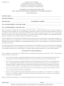 Form Fh-0704-1215 - Retiree Tax Certification For Civil(union Partner Or Domestic Partner Benefit
