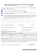 Form Ma-3 - Report Of Law Enforcement Officer Initiating Protective Custody - State Of Florida
