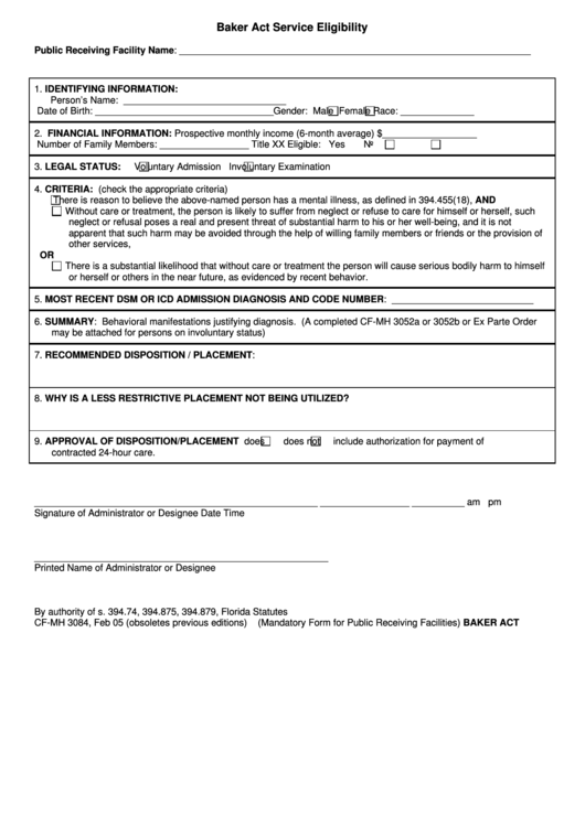 Top 7 Baker Act Forms And Templates free to download in PDF, Word ...