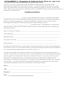 Delegation Of Authority Form