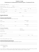 Permission For Information And Emergency Treatment Form