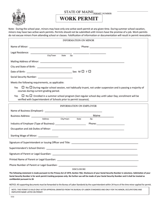 photograph relating to Printable Workers Permit identified as Let In direction of Hard work Type Pdf