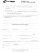 Claim Form For Lost Or Damaged Packages