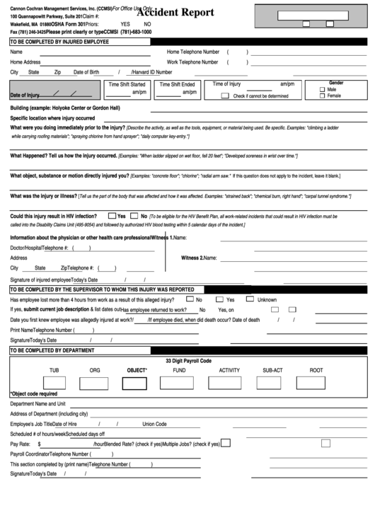 osha accident report form pdf