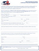 Certificate Of Insurance Request Form