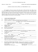 Application Form For Appeal Of Property Tax