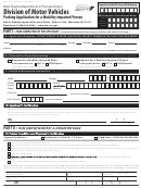 Form Dmv-41-tr - Parking Application Form For A Mobility Impaired Person