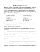 Ptan Letter Request Form