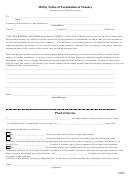 30-day Notice Of Termination Of Tenancy Form (tenancy Less Than One Year) - 2013