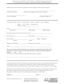 Record Check Authorization Form - Department For Children And Families
