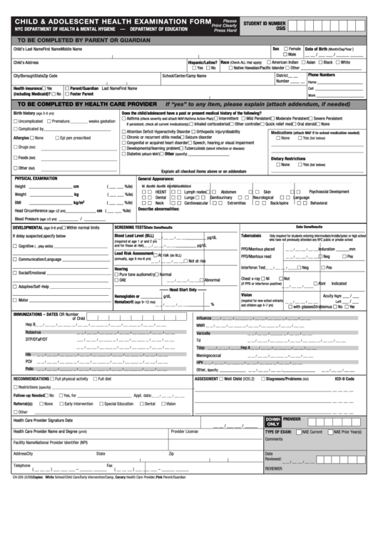 form ch-205