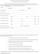 License Modification Request For Facility Change Of Location Form