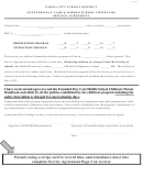 Extended Day Care & Middle School Childcare Service Agreement Form - Parma City School District