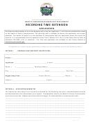 Recording Time Extension Application Form - Teton County, Idaho