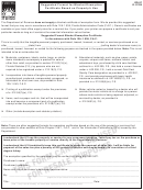 Form Dr-97 - Suggested Format For Blanket Exemption Certificate Based On Property's Use