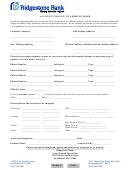 Account Change Of Address Form