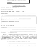 Notice Of Taking An Appeal Of A Decision Of The Architectural Review Board Form