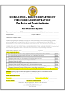 Plan Review And Permit Application For Fire Protection Systems Form - Rescue Department