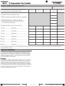 Schedule C (100s) - S Corporation Tax Credits Form - California