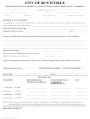 Privilege License Approval Application For A Commercial Address Form - City Of Huntsville
