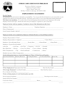 Form Cc36 - Employment Statement - Child Care Assistance Program