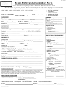 Texas Referral/authorization Form - Cfhp Health Services