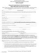 Application Form For Deputy Marriage Commissioner For A Day