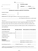Defendant's Pauper's Affidavit For Appeal Form - Texas