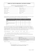 Work Release / Home Monitoring Program Employer's Affidavit Form