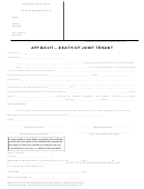 Death Of Joint Tenant Affidavit Form