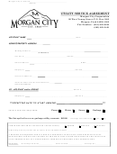 Utility Service Agreement Form
