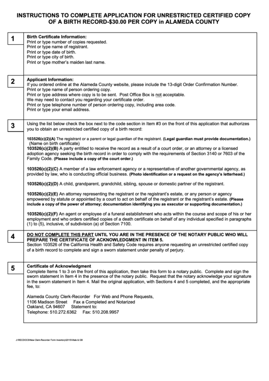 Top 18 California Birth Certificate Form Templates free to download ...