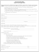 Septic Permit Application Form