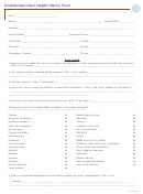 Confidential Client Health History Form