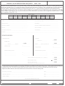 Form Seh-194 - Travel Authorization Request - The School District Of Philadelphia - 2014
