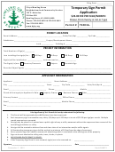 Temporary Sign Permit Application Form - City Of Bowling Green