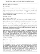 Residential Mortgage Loan Originator Disclosure Form