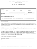 Health Inventory Form - Child's Personal Record For Child Care Facilities - Maryland State Department Of Education