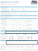 Application For Use Of Facilities Form - Middle Tennessee State University