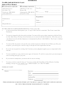 Summons & Return Form - State Of New Mexico - Twelfth Judicial District Court
