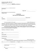Summons And Return Of Service Form - New Mexico