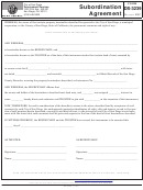 Ds-3239 Subordination Agreement Form