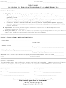 Application For Homestead Exemption Of Leasehold Properties Form - Ogle County