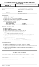 Form G - La. C.c. Art. 102 Divorce Checklist