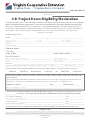 4-h Project Horse Eligibility/declaration Form - Virginia Cooperative Extension