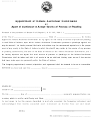 Form 44147 - Agent Of Auctioneer To Accept Service Of Process Or Pleading - Indiana Auctioneer Commission